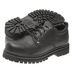 Skechers Work Hard Hats   Secure Black Oily Leather