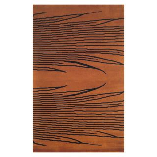 Hand knotted Traditional Burnt Orange Wool Rug (410 x 710