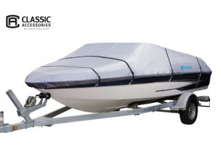 Classic Accessories Silver Max Molded Pond Boat Cover (Silver, Fits 8