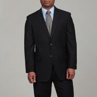 Caravelli Mens Navy Stripe Two button Suit