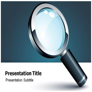 Magnifying Glass Powerpoint Template   Magnifying Glass