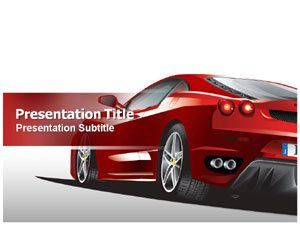 Race Car Powerpoint Template  Car Powerpoint Templates