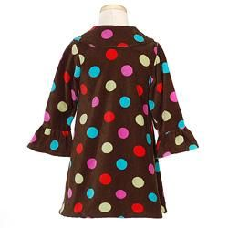 Bonnie Jean Girls Brown Polka Dot Fleece Coat Set