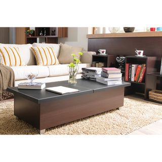 Numero Leatherette Top Coffee Table
