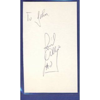 Raul Allegre Giants Signed/Autographed 3x5 Index Card
