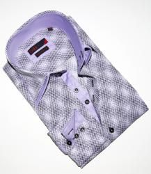 BRIO UOMO Mens Purple Dress Shirt