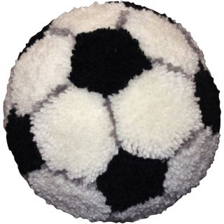Huggables Soccer Ball Pillow Latch Hook Kit 10 Round
