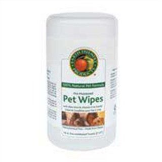 Earth Friendly Products Natural Pet Wipes, Pre Moistened