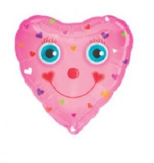 Jumbo Valentine Balloon   Happy Heart with Moving Eyes