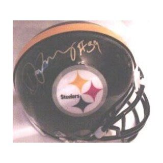 Darren Perry Autographed/Hand Signed Pittsburgh Steelers Football Mini