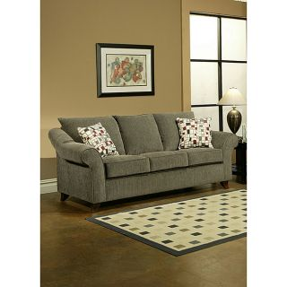 Enitial Lab Allie Ash Grey Microfiber Sofa