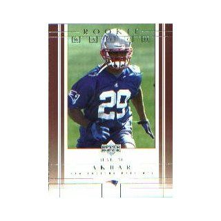 2001 Upper Deck #212 Hakim Akbar RC: Collectibles