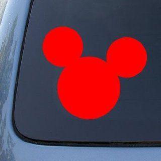 MICKEY MOUSE EARS   Vinyl Car Decal Sticker #A1540  Vinyl Color Red