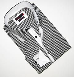 Brio Uomo Mens Black/ White Dress Shirt