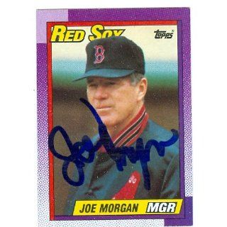 Joe Morgan autographed Baseball Card (Boston Red Sox) 1990 Topps #321