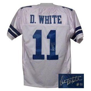 Danny White Signed Dallas Cowboys White Prostyle Jersey