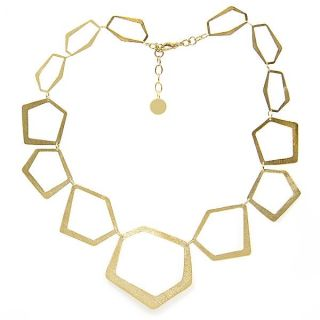 Adee Waiss 18k Yellow Gold Overlay Geometric Link Necklace