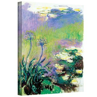 Claude Monet Agapanthus Gallery Wrapped Canvas