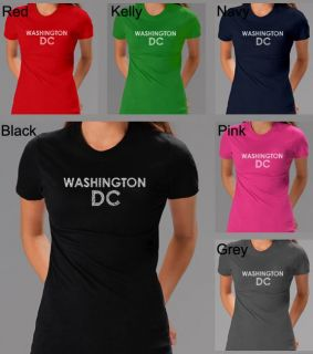 Los Angeles Pop Art Womens Washington DC T Shirt