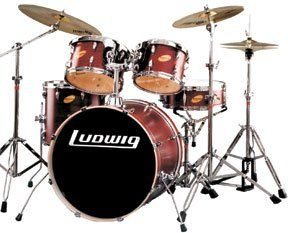Ludwig LR1315L336 Accent Custom 5 Piece Wine Red Natural