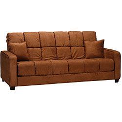 Cara Dark Brown Futon Sofa Bed