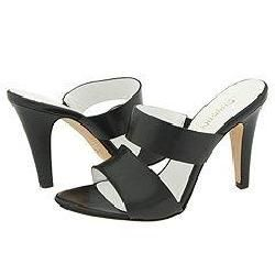 Christin Michaels Regina Black Nappa Sandals