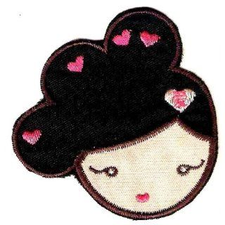 LOVE   Maya Chino in Harajuku Girls applique Embroidered Iron On / Sew
