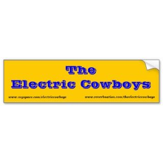 The Electric Cowboys bumper sticker