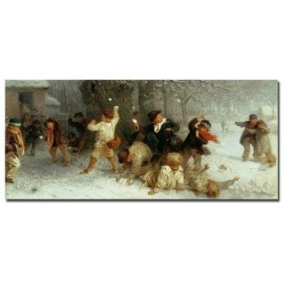 John Morgan Snowballing, 1865 Gallery wrapped Canvas Art