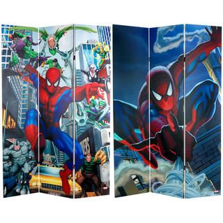 Six Foot Tall Double Sided Spider Man Rogues Gallery Canvas Room