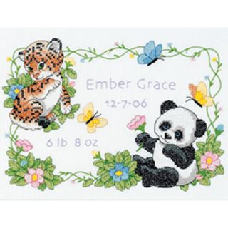 Dimensions Baby Hugs Baby Animals Cross Stitch Kit
