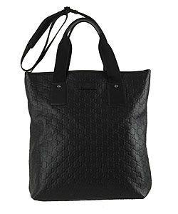 Gucci Large Black Guccissima Leather Tote Bag