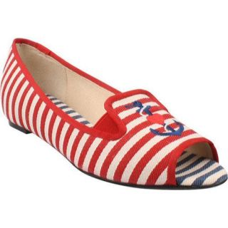 Womens J. Renee Anchor Red/Natural Fabric