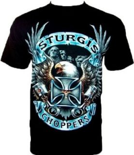 STURGIS CHOPPERS BIKER T SHIRT Schwarz Black Gr XL
