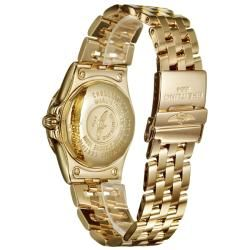 Breitling Womens Windrider Starliner 18k Yellow Gold Quartz Watch