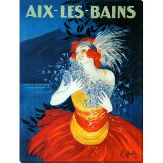Leonetto Cappiello Aix Les Bains Gallery Wrapped Canvas