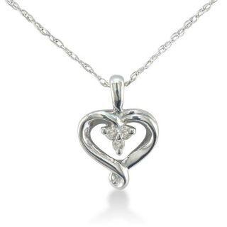 Sterling Silver Diamond Accent Heart Necklace (K L, I2 I3)