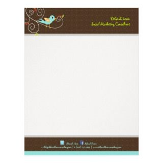 tweet, SEO marketing/DIY color Customized Letterhead
