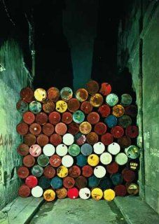 Kunstkarte Christo und Jeanne Claude Wall of Oil Barrels 10 x 15