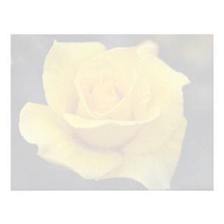 Lovely Hybrid Tea Rose Personalized Letterhead