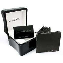 Raphael Leon Mens Goldtone Stainless Steel Diamond Watch
