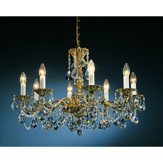 Brass Antique Finish 6 light Chandelier