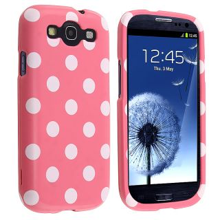 BasAcc Light Pink/ White Polka Dot Case for Samsung Galaxy S III i9300