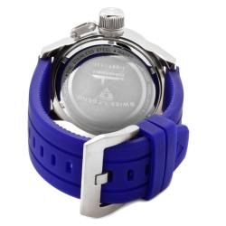 Swiss Legend Mens Submersible Violet Blue Silicon Watch