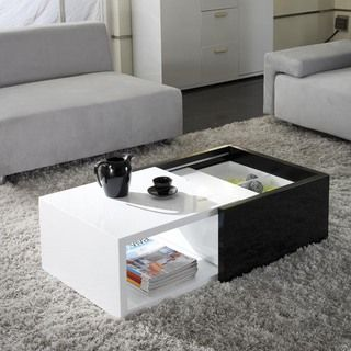 Matrix Karla High gloss Hide away Storage Coffee Table