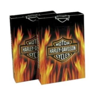 Harley Davidson Flame Playing Cards   Poker Accessories