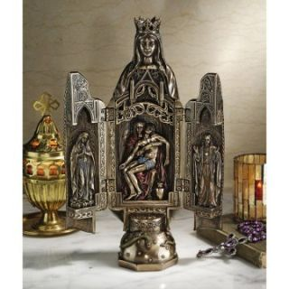 Design Toscano 11 in. Triptych of the Virgin Mary Hinged Statue