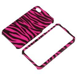Hot Pink/ Black Zebra Snap on Case for Apple iPhone 4