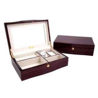 Ebony Zebra Wood Jewelry Box   11.75W x 3.25H in.   Womens Jewelry