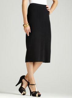 Ellen Tracy Knit Long Pencil Skirt